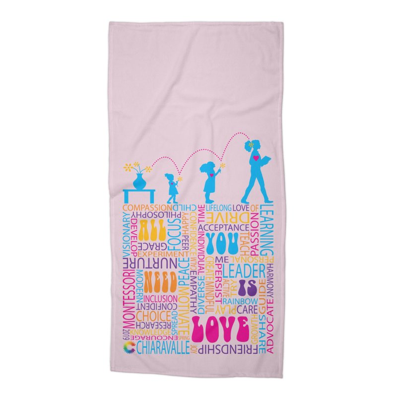 All You Need Is Love Accessories Beach Towel by Chiaravalle Montessori Spirit Shop