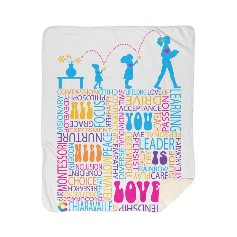 All You Need Is Love Home Sherpa Blanket Blanket by Chiaravalle Montessori Spirit Shop