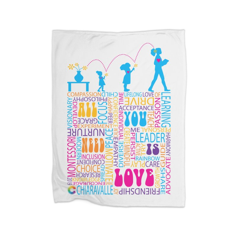 All You Need Is Love Home Fleece Blanket Blanket by Chiaravalle Montessori Spirit Shop