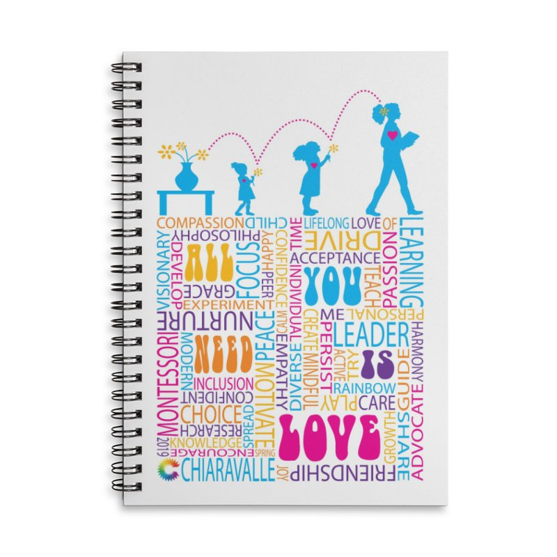 All You Need Is Love Accessories Lined Spiral Notebook by Chiaravalle Montessori Spirit Shop