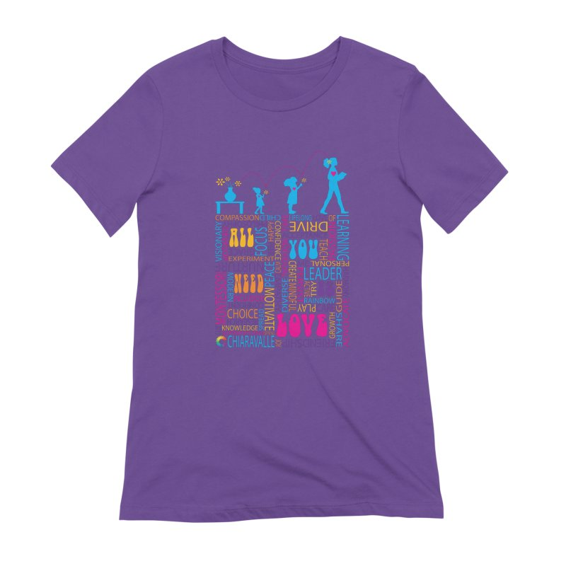 All You Need Is Love Women's Extra Soft T-Shirt by Chiaravalle Montessori Spirit Shop