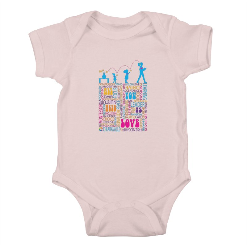 All You Need Is Love Kids Baby Bodysuit by Chiaravalle Montessori Spirit Shop