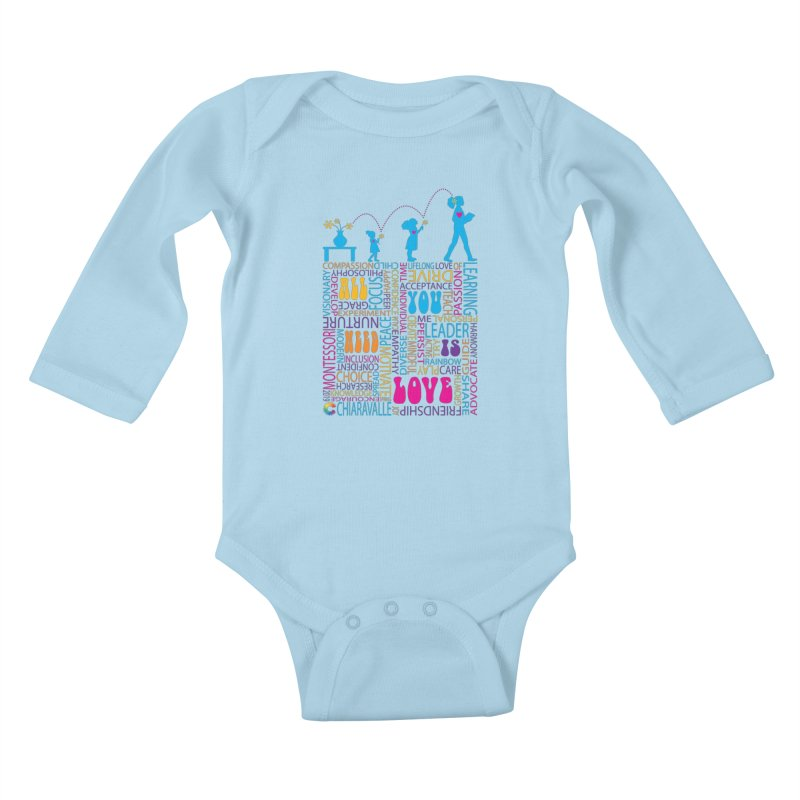 All You Need Is Love Kids Baby Longsleeve Bodysuit by Chiaravalle Montessori Spirit Shop
