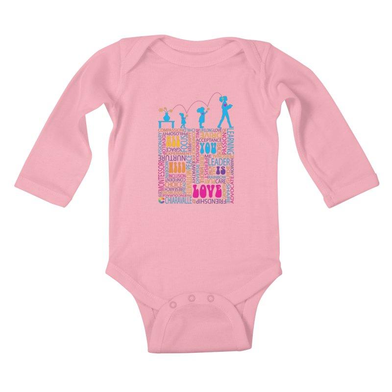 All You Need Is Love Kids Baby Longsleeve Bodysuit by Chiaravalle Montessori Spirit Shop