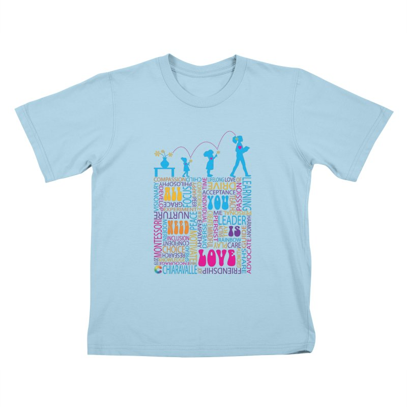 All You Need Is Love Kids T-Shirt by Chiaravalle Montessori Spirit Shop
