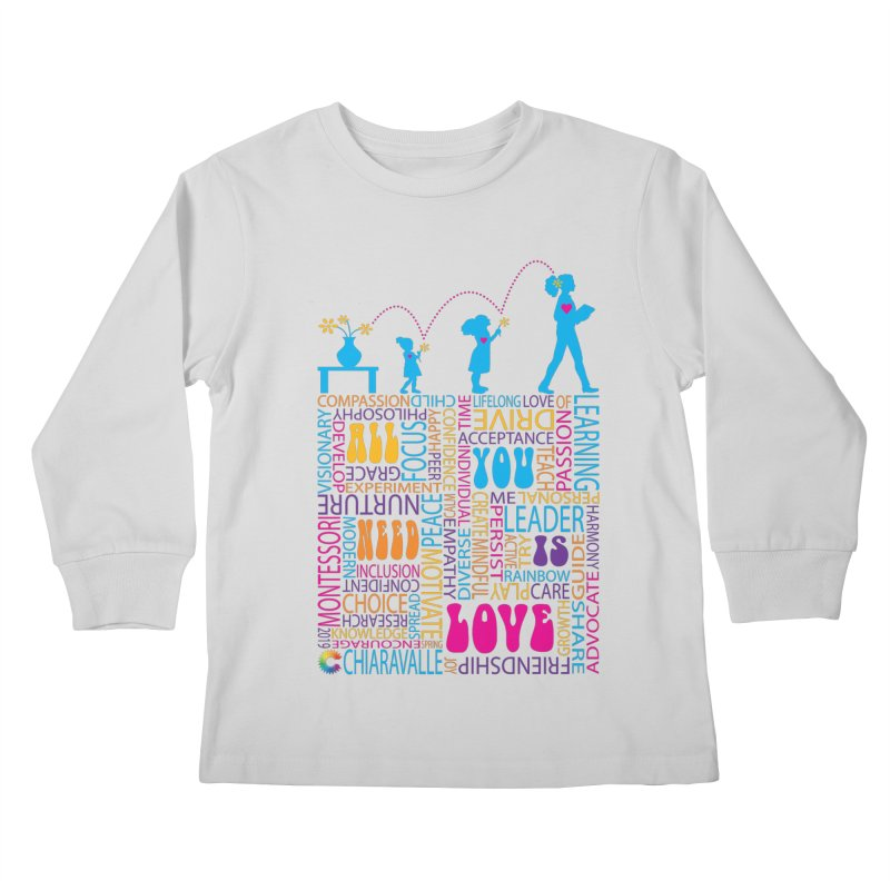 All You Need Is Love Kids Longsleeve T-Shirt by Chiaravalle Montessori Spirit Shop