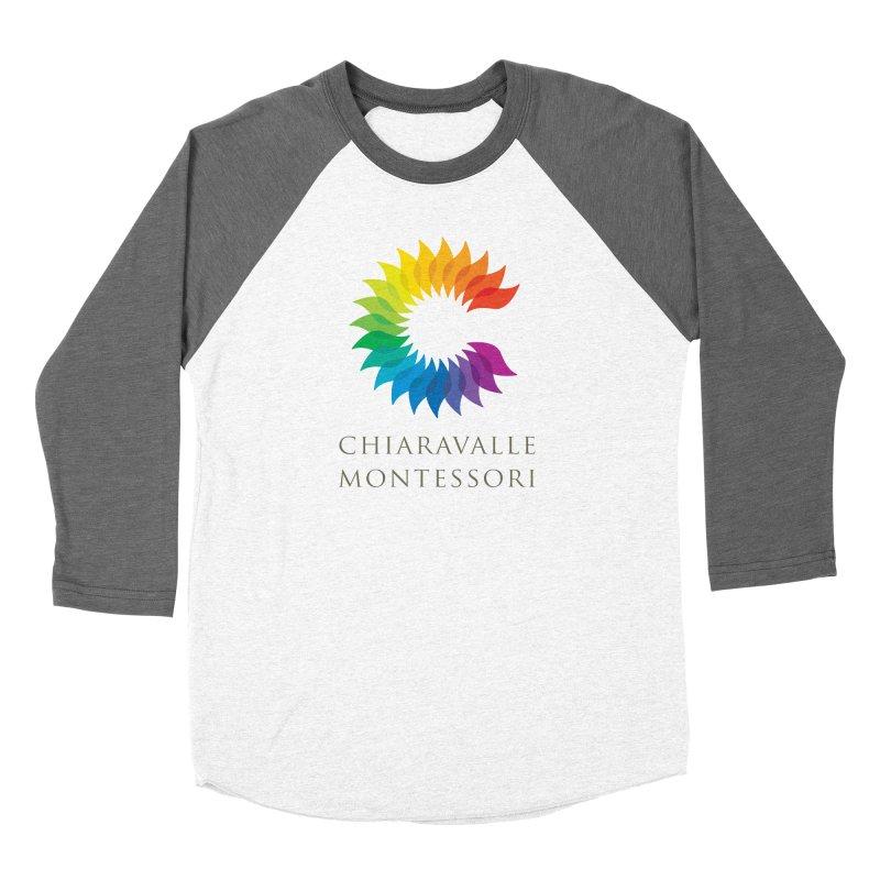Chiaravalle Montessori - Light in Men's Baseball Triblend Longsleeve T-Shirt Tri-Grey Sleeves by Chiaravalle Montessori Spirit Shop