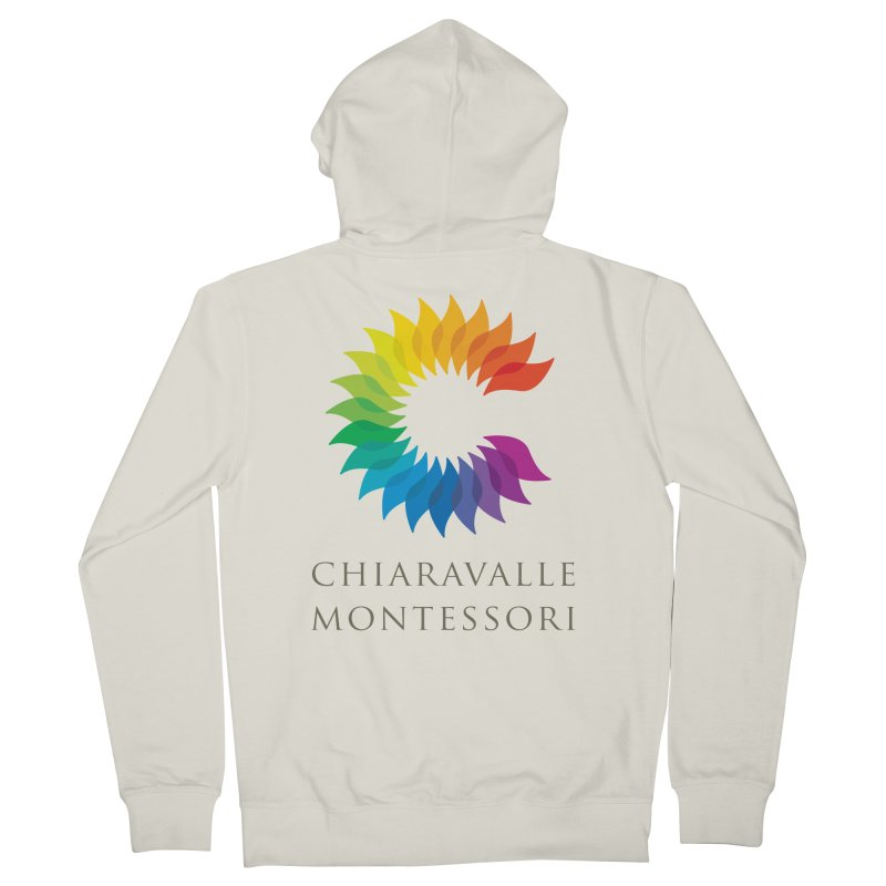 Chiaravalle Montessori - Light Women's French Terry Zip-Up Hoody by Chiaravalle Montessori Spirit Shop