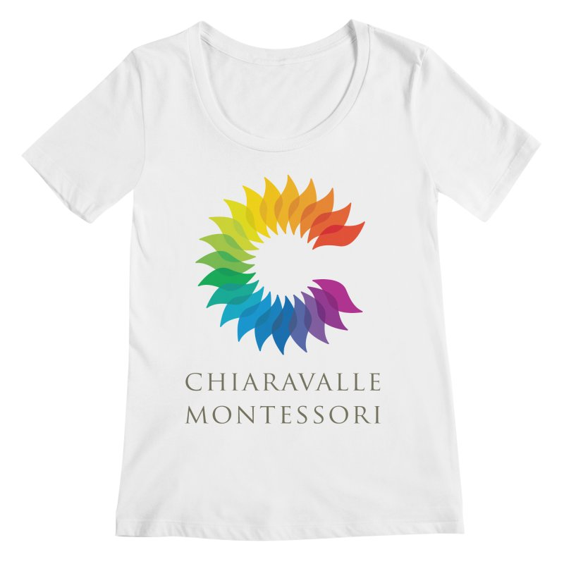 Chiaravalle Montessori - Light Women's Regular Scoop Neck by Chiaravalle Montessori Spirit Shop