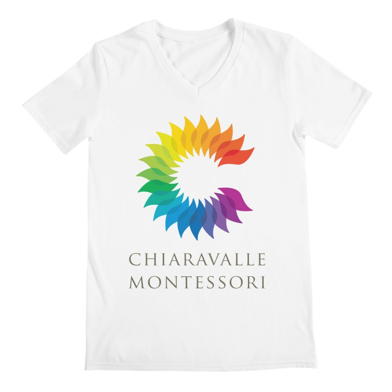 Chiaravalle Montessori - Light Men's Regular V-Neck by Chiaravalle Montessori Spirit Shop