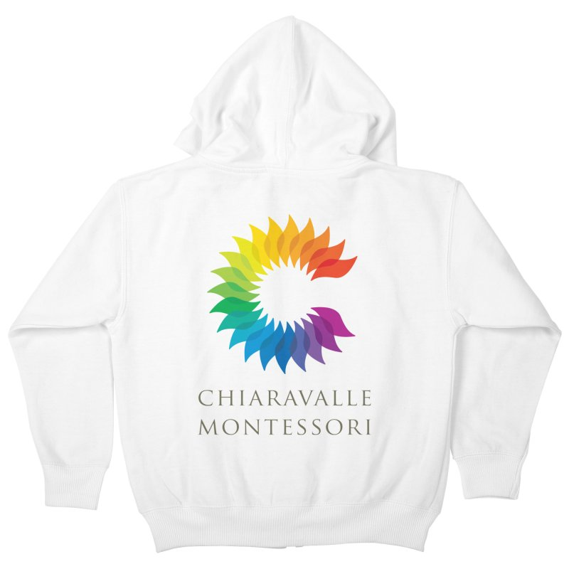 Chiaravalle Montessori - Light in Kids Zip-Up Hoody White by Chiaravalle Montessori Spirit Shop