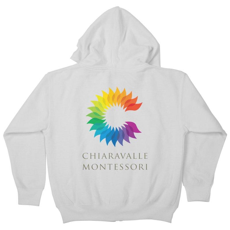 Chiaravalle Montessori - Light Kids Zip-Up Hoody by Chiaravalle Montessori Spirit Shop