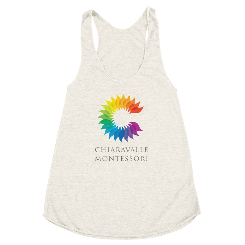 Chiaravalle Montessori - Light Women's Racerback Triblend Tank by Chiaravalle Montessori Spirit Shop