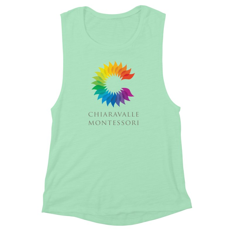 Chiaravalle Montessori - Light Women's Muscle Tank by Chiaravalle Montessori Spirit Shop