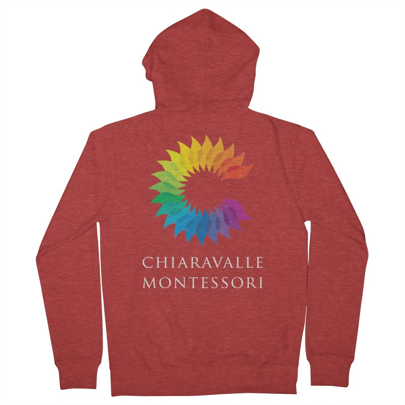Chiaravalle Montessori - Dark Women's French Terry Zip-Up Hoody by Chiaravalle Montessori Spirit Shop