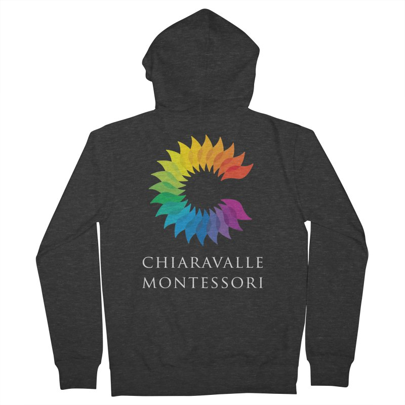 Chiaravalle Montessori - Dark Men's French Terry Zip-Up Hoody by Chiaravalle Montessori Spirit Shop
