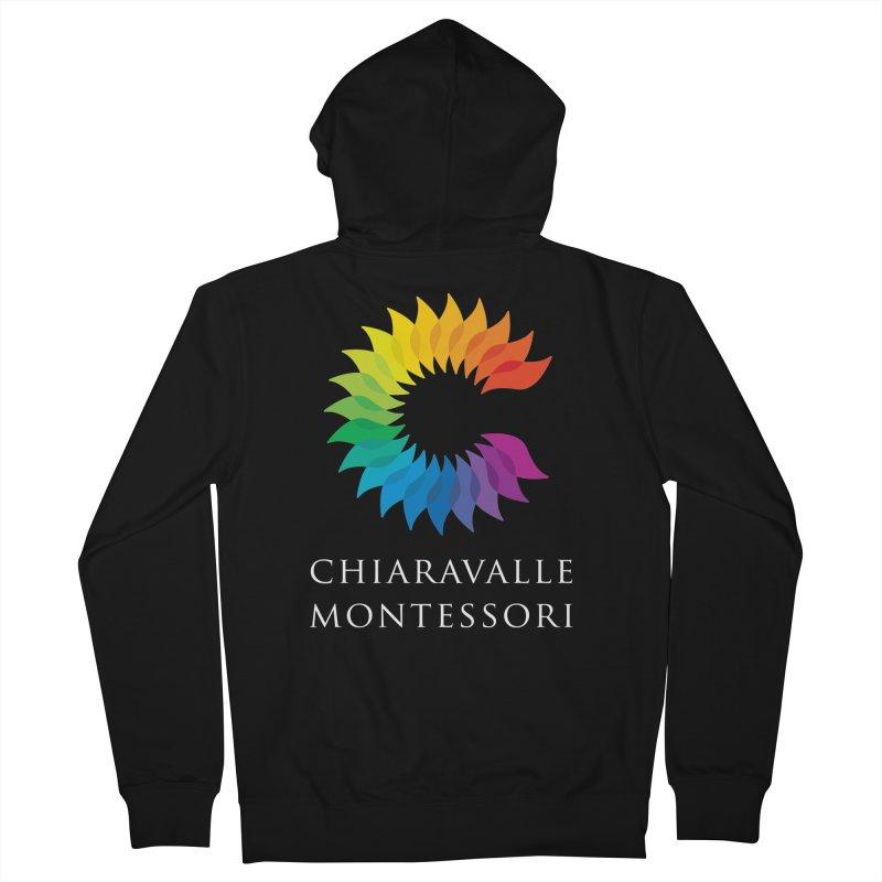 Chiaravalle Montessori - Dark Men's French Terry Zip-Up Hoody by Chiaravalle Montessori Spirit Shop
