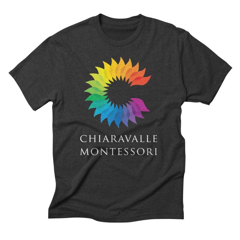 Chiaravalle Montessori - Dark in Men's Triblend T-Shirt Heather Onyx by Chiaravalle Montessori Spirit Shop