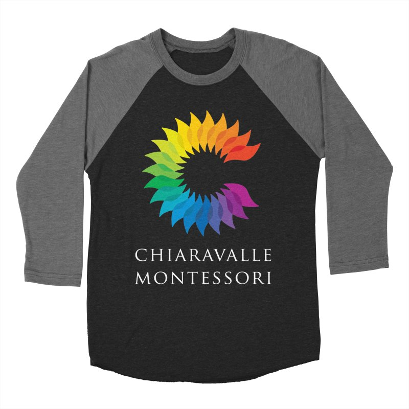 Chiaravalle Montessori - Dark Men's Baseball Triblend Longsleeve T-Shirt by Chiaravalle Montessori Spirit Shop