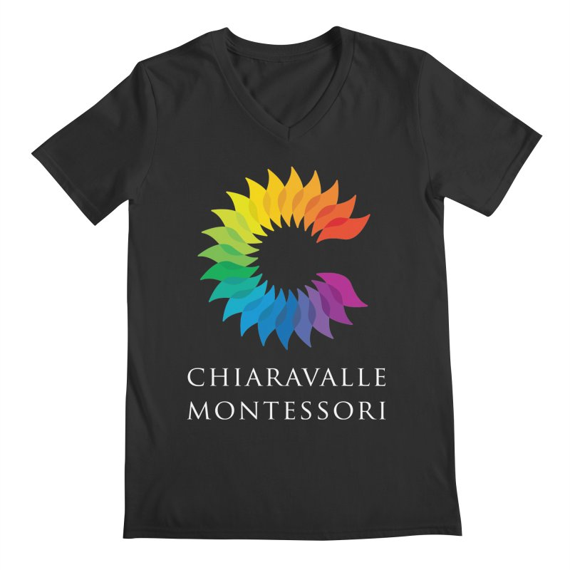 Chiaravalle Montessori - Dark Men's Regular V-Neck by Chiaravalle Montessori Spirit Shop