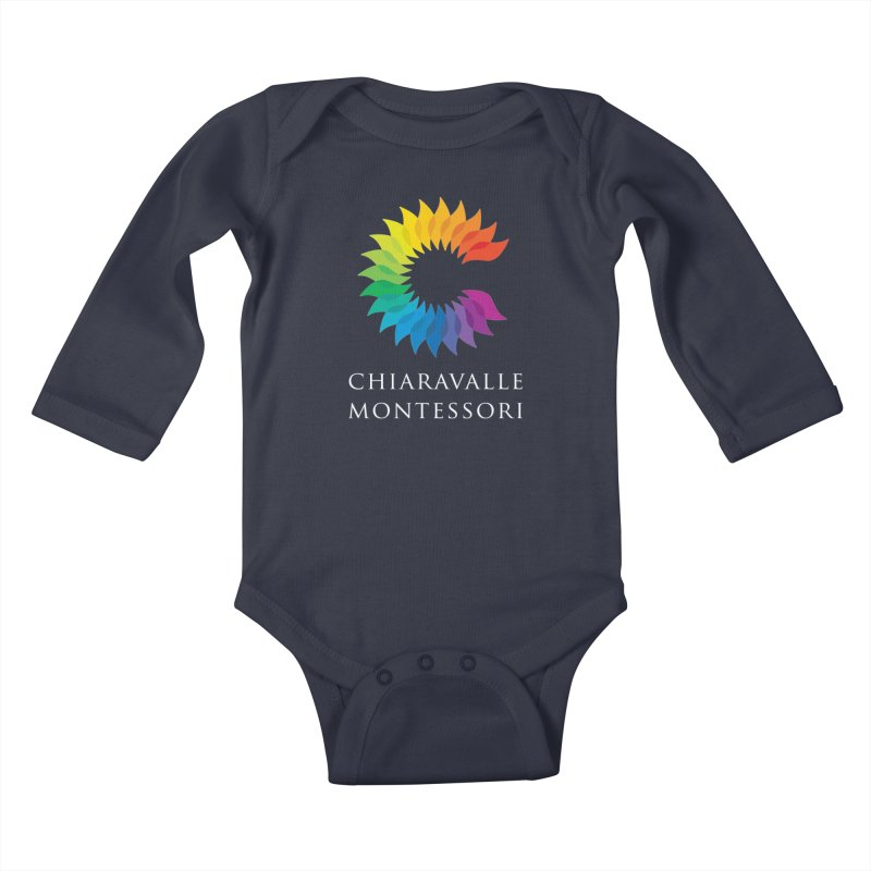 Chiaravalle Montessori - Dark Kids Baby Longsleeve Bodysuit by Chiaravalle Montessori Spirit Shop