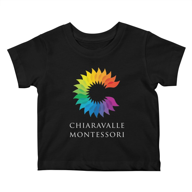 Chiaravalle Montessori - Dark Kids Baby T-Shirt by Chiaravalle Montessori Spirit Shop