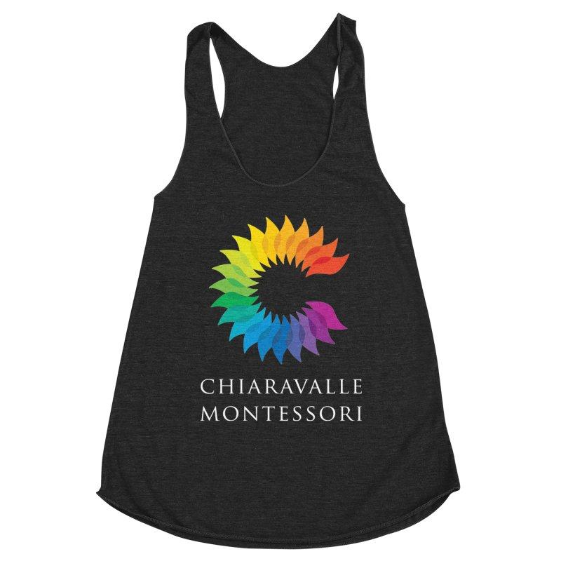 Chiaravalle Montessori - Dark in Women's Racerback Triblend Tank Heather Onyx by Chiaravalle Montessori Spirit Shop