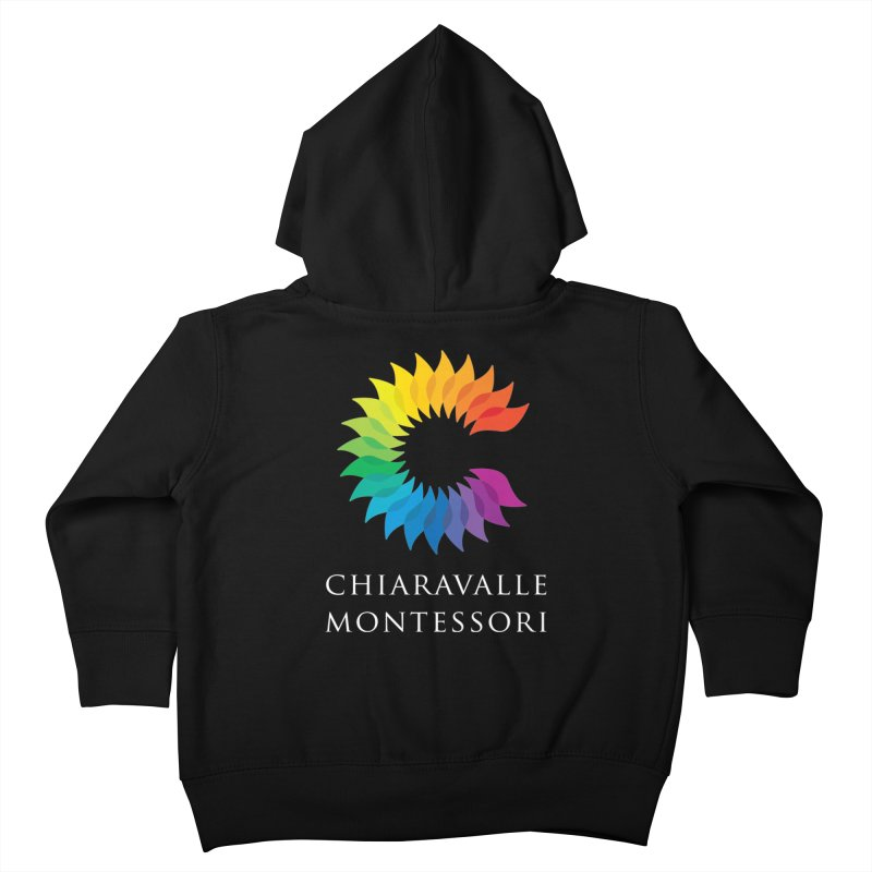 Chiaravalle Montessori - Dark Kids Toddler Zip-Up Hoody by Chiaravalle Montessori Spirit Shop