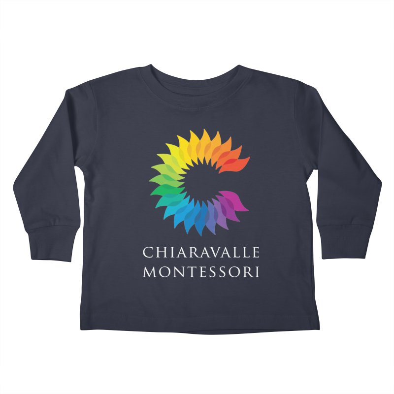 Chiaravalle Montessori - Dark Kids Toddler Longsleeve T-Shirt by Chiaravalle Montessori Spirit Shop