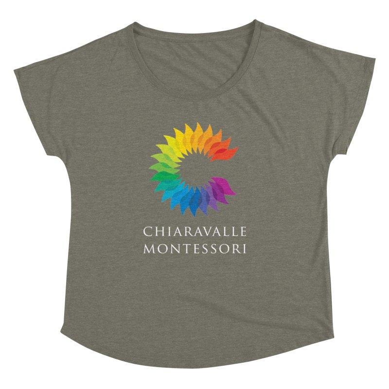 Chiaravalle Montessori - Dark Women's Dolman Scoop Neck by Chiaravalle Montessori Spirit Shop