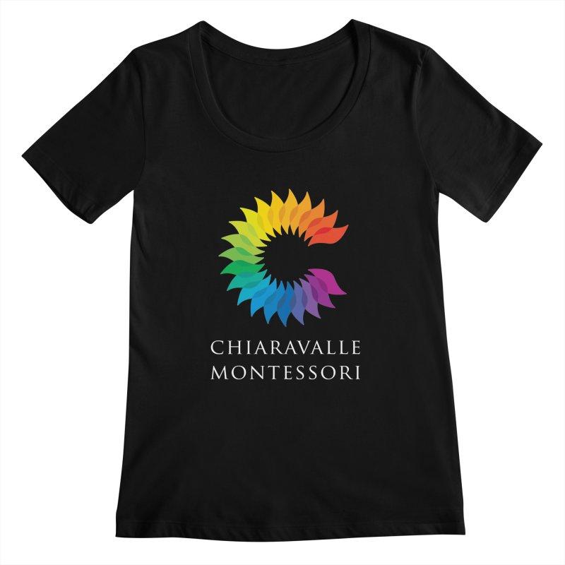 Chiaravalle Montessori - Dark Women's Scoopneck by Chiaravalle Montessori Spirit Shop