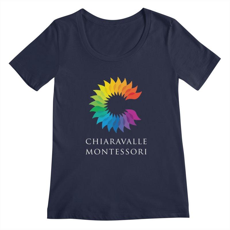 Chiaravalle Montessori - Dark Women's Regular Scoop Neck by Chiaravalle Montessori Spirit Shop