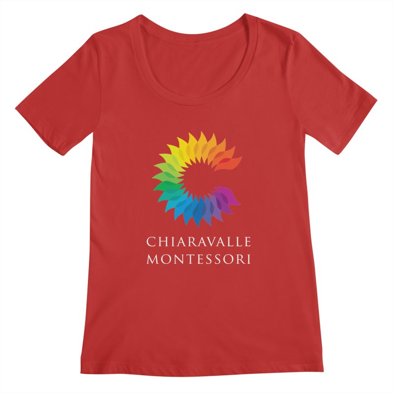 Chiaravalle Montessori - Dark Women's Regular Scoop Neck by Chiaravalle Montessori Spirit Shop