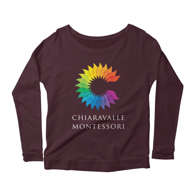 Chiaravalle Montessori - Dark Women's Scoop Neck Longsleeve T-Shirt by Chiaravalle Montessori Spirit Shop