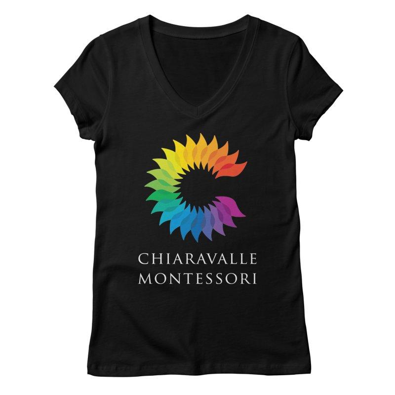 Chiaravalle Montessori - Dark Women's V-Neck by Chiaravalle Montessori Spirit Shop