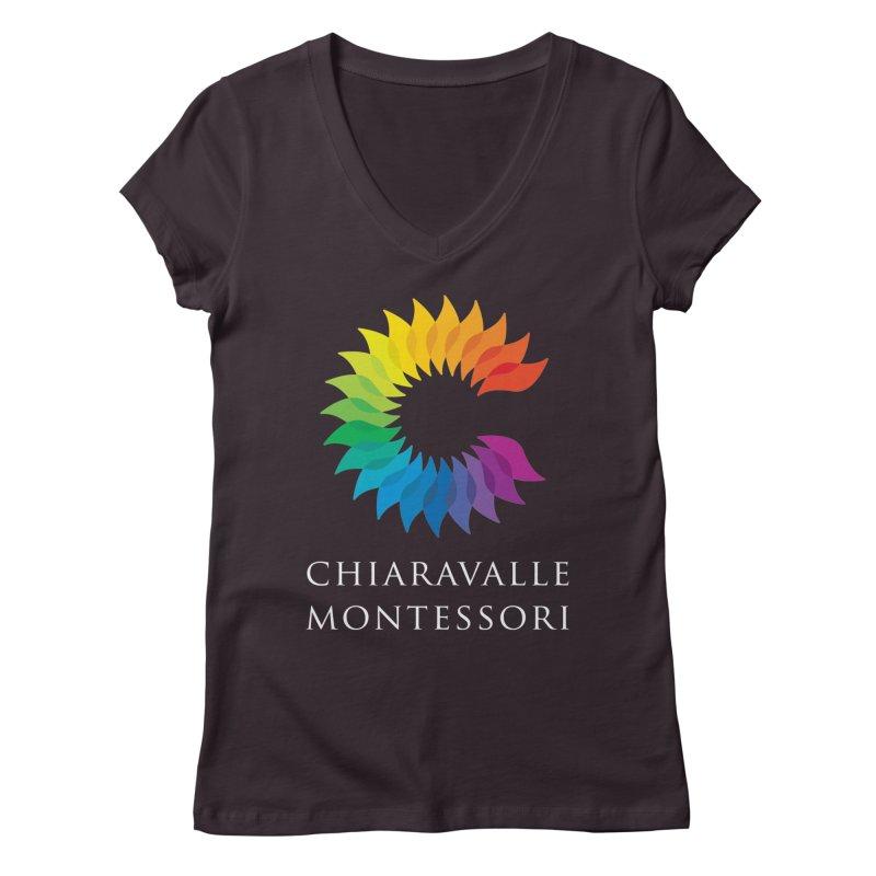 Chiaravalle Montessori - Dark Women's Regular V-Neck by Chiaravalle Montessori Spirit Shop
