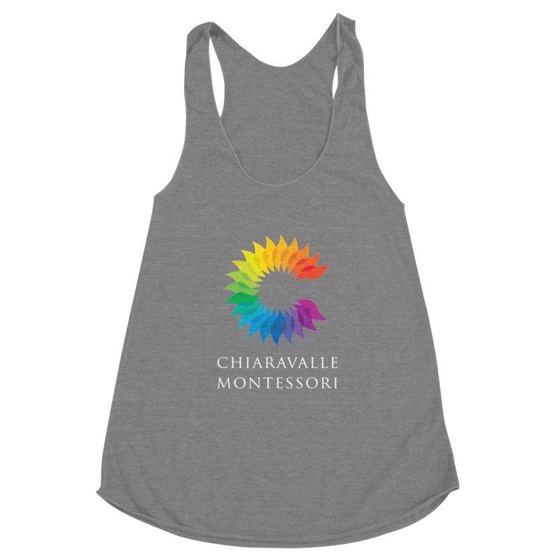Chiaravalle Montessori - Dark Women's Racerback Triblend Tank by Chiaravalle Montessori Spirit Shop