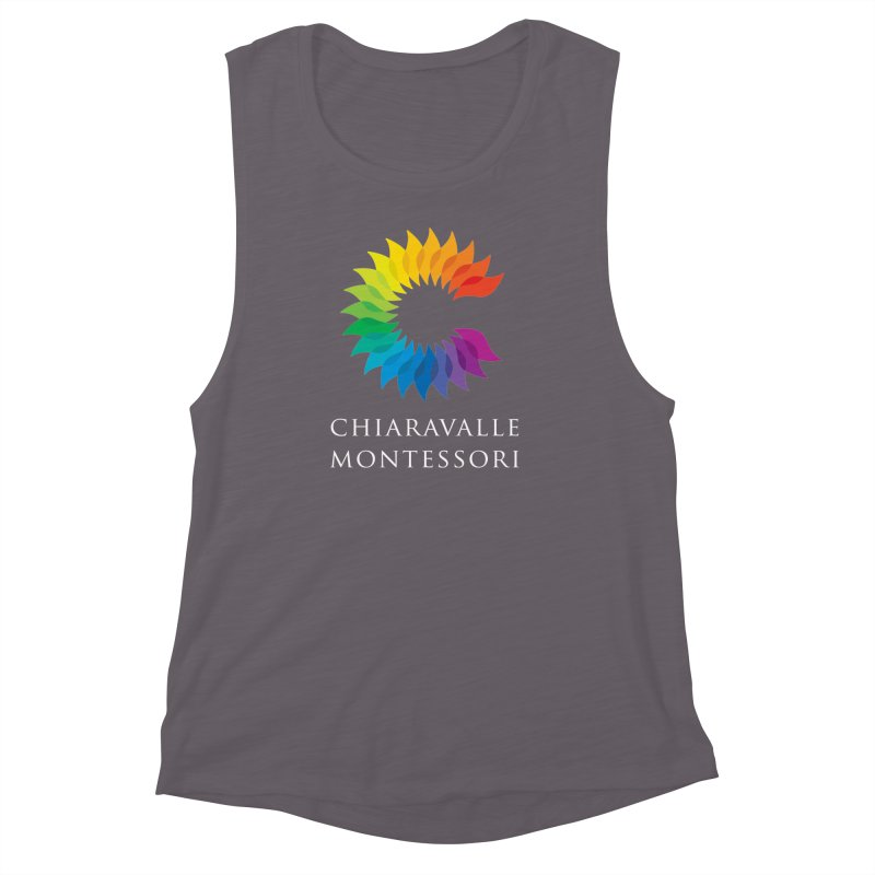 Chiaravalle Montessori - Dark Women's Muscle Tank by Chiaravalle Montessori Spirit Shop
