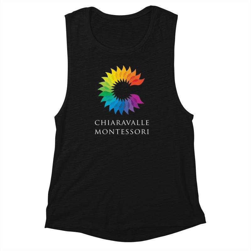 Chiaravalle Montessori - Dark Women's Muscle Tank by Chiaravalle Montessori Spirit Shop