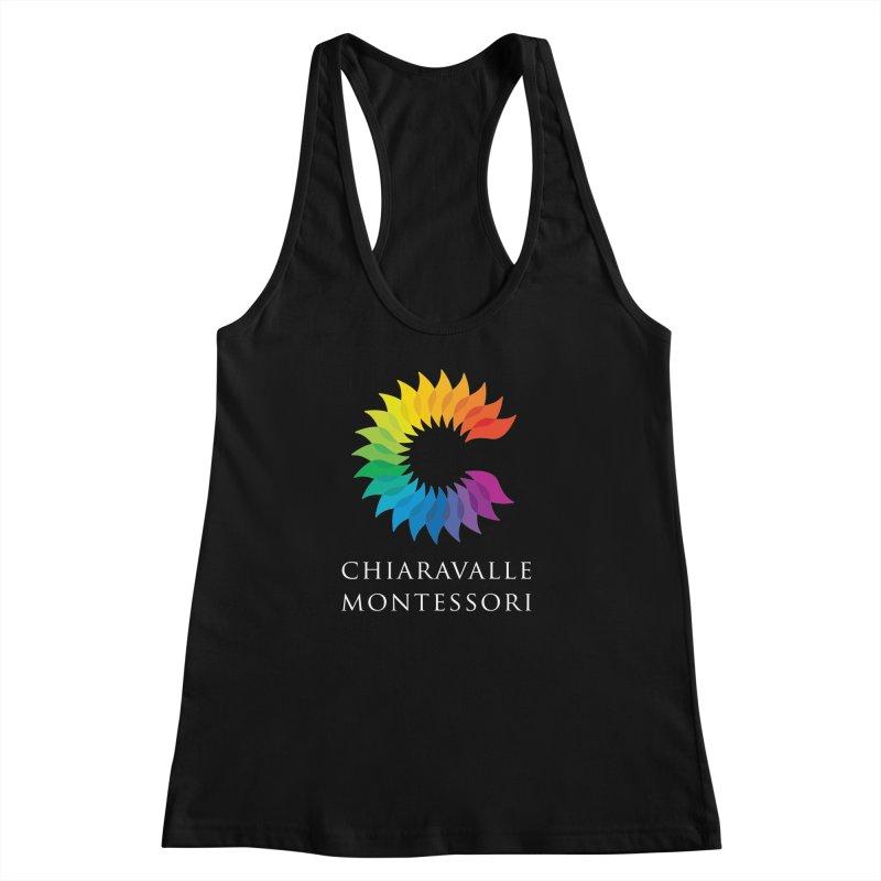 Chiaravalle Montessori - Dark Women's Racerback Tank by Chiaravalle Montessori Spirit Shop