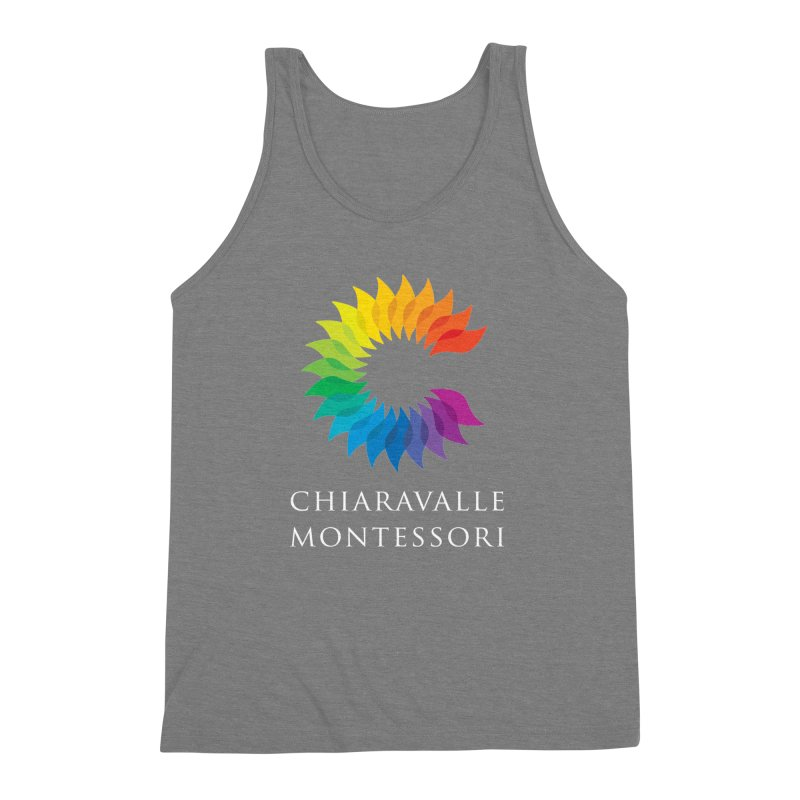 Chiaravalle Montessori - Dark Men's Triblend Tank by Chiaravalle Montessori Spirit Shop