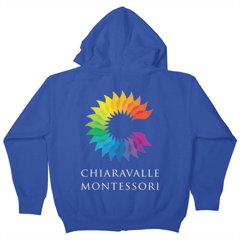 Chiaravalle Montessori - Dark Kids Zip-Up Hoody by Chiaravalle Montessori Spirit Shop