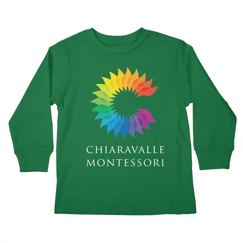 Chiaravalle Montessori - Dark Kids Longsleeve T-Shirt by Chiaravalle Montessori Spirit Shop