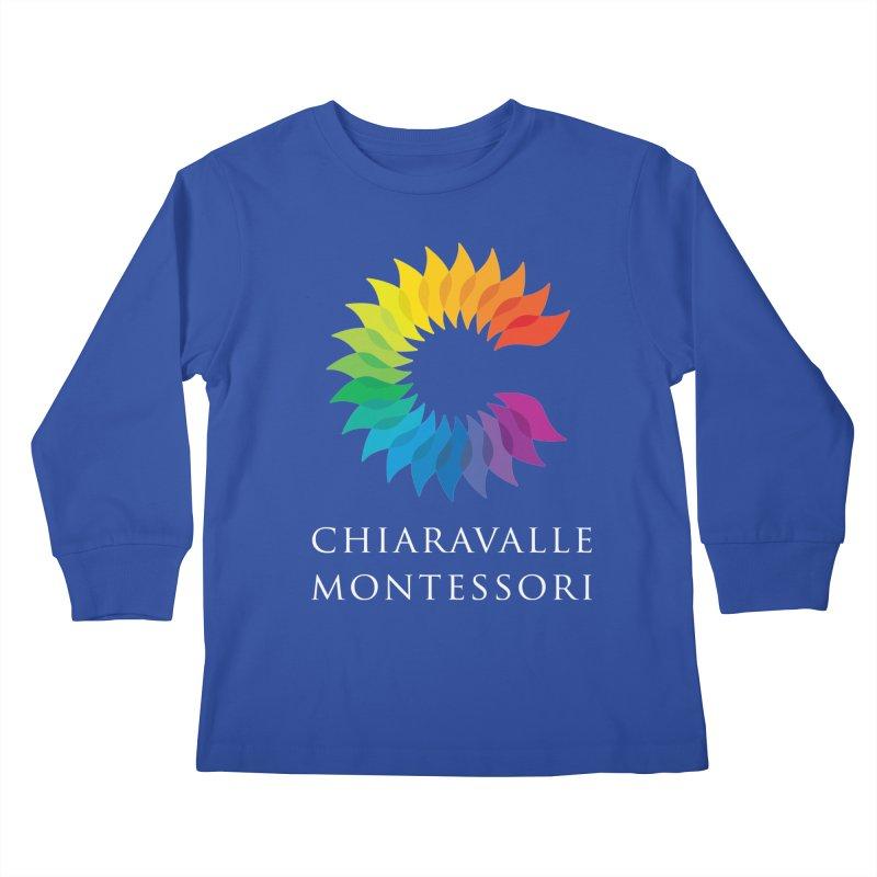 Chiaravalle Montessori - Dark Kids Longsleeve T-Shirt by Chiaravalle Montessori Spirit Shop
