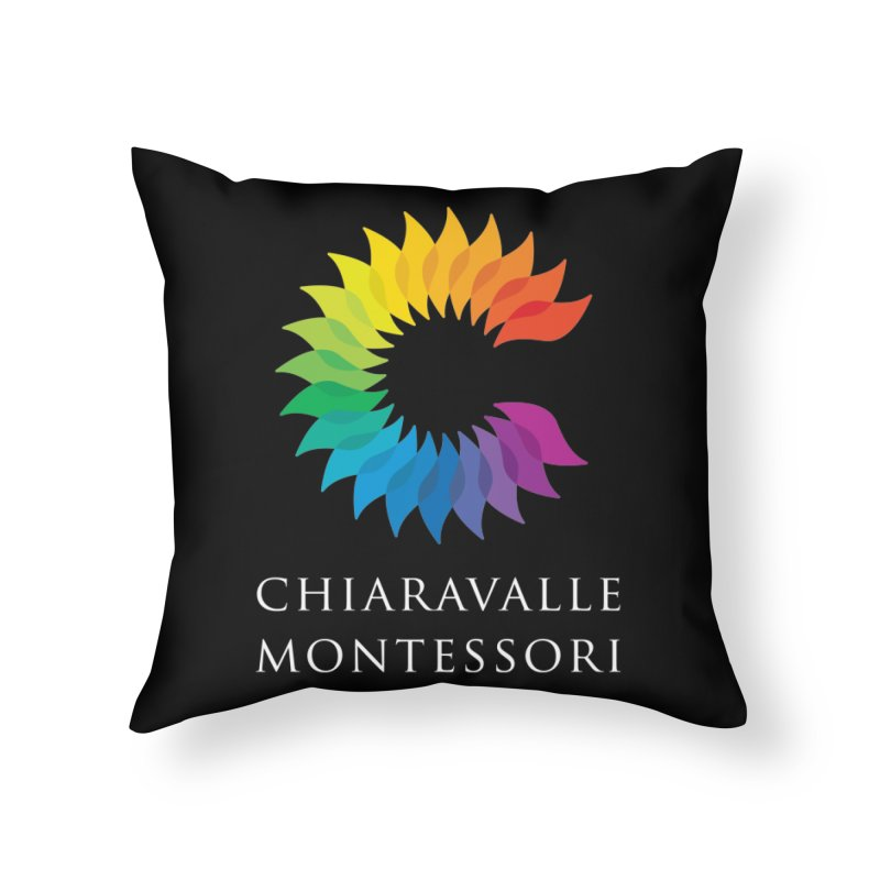 Chiaravalle Montessori - Dark in Throw Pillow by Chiaravalle Montessori Spirit Shop
