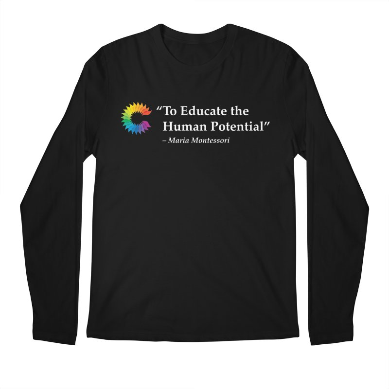 Maria Montessori Men's Longsleeve T-Shirt by Chiaravalle Montessori Spirit Shop