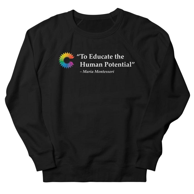 Maria Montessori Men's French Terry Sweatshirt by Chiaravalle Montessori Spirit Shop