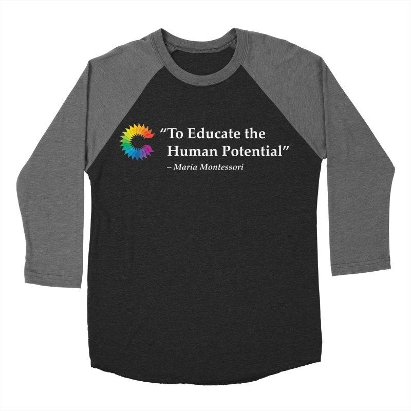 Maria Montessori Men's Baseball Triblend Longsleeve T-Shirt by Chiaravalle Montessori Spirit Shop