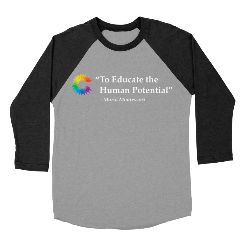 Maria Montessori Men's Baseball Triblend Longsleeve T-Shirt by Chiaravalle Montessori Spirit Shop