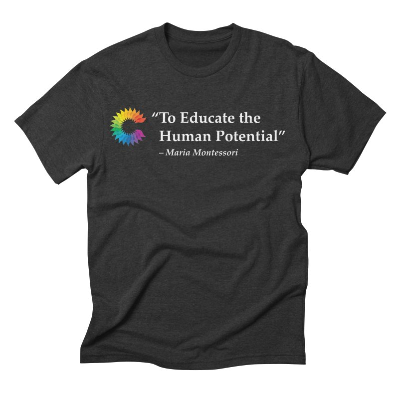 Maria Montessori Men's Triblend T-shirt by Chiaravalle Montessori Spirit Shop